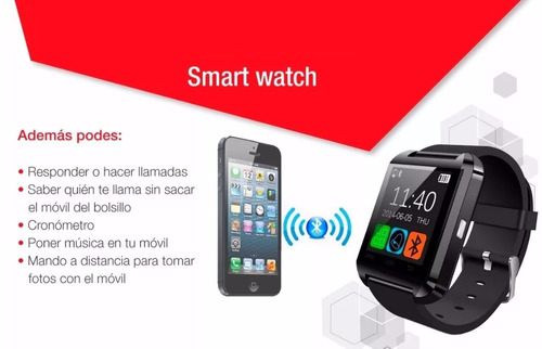 smart watch u8 touch reloj inteligente android blanco azul