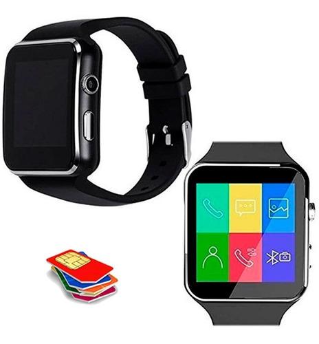 smart watch x6 reloj cámara chip memoria celular dz09 gt08