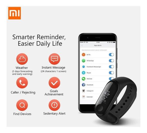 smart watch xiaomi mi band 3 reloj inteligente orig + cuotas