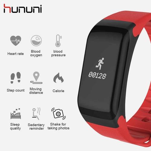 smartband f1 tela colorida bluetooth  hunini monitor