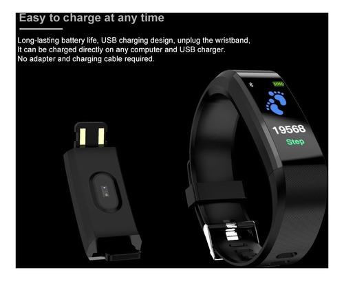 smartband id115 plus fitness ritmo cardíaco presión deportes