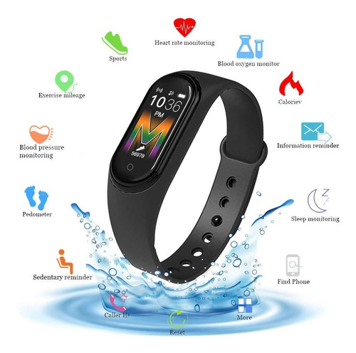 smartband m5 reloj inteligente bluetooth ios android