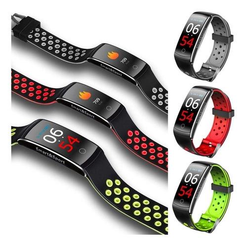 smartband q8s brazalete deportivo cardio, contra agua, reloj