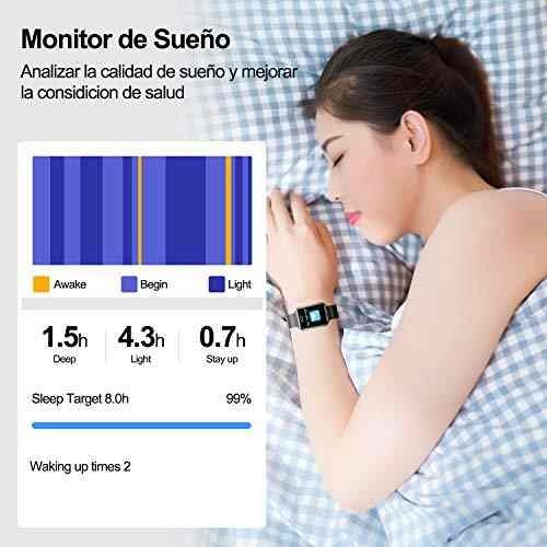 smartbands smartwatch con pulsómetro ip67 reloj 1054