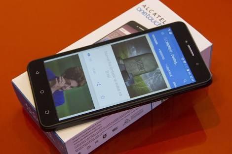 smartphone alcatel pixi 4 6 tela hd android 5.1