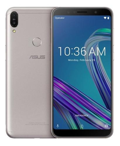 smartphone asus zenfone max pro m1 zb602kl prata - dual chip