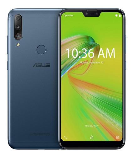 smartphone asus zenfone max shot 64gb câmera tripla - azul