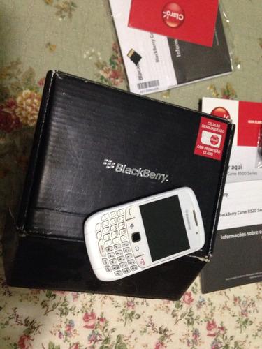smartphone blackberry 8520 branco desbloqueado, com nota fis