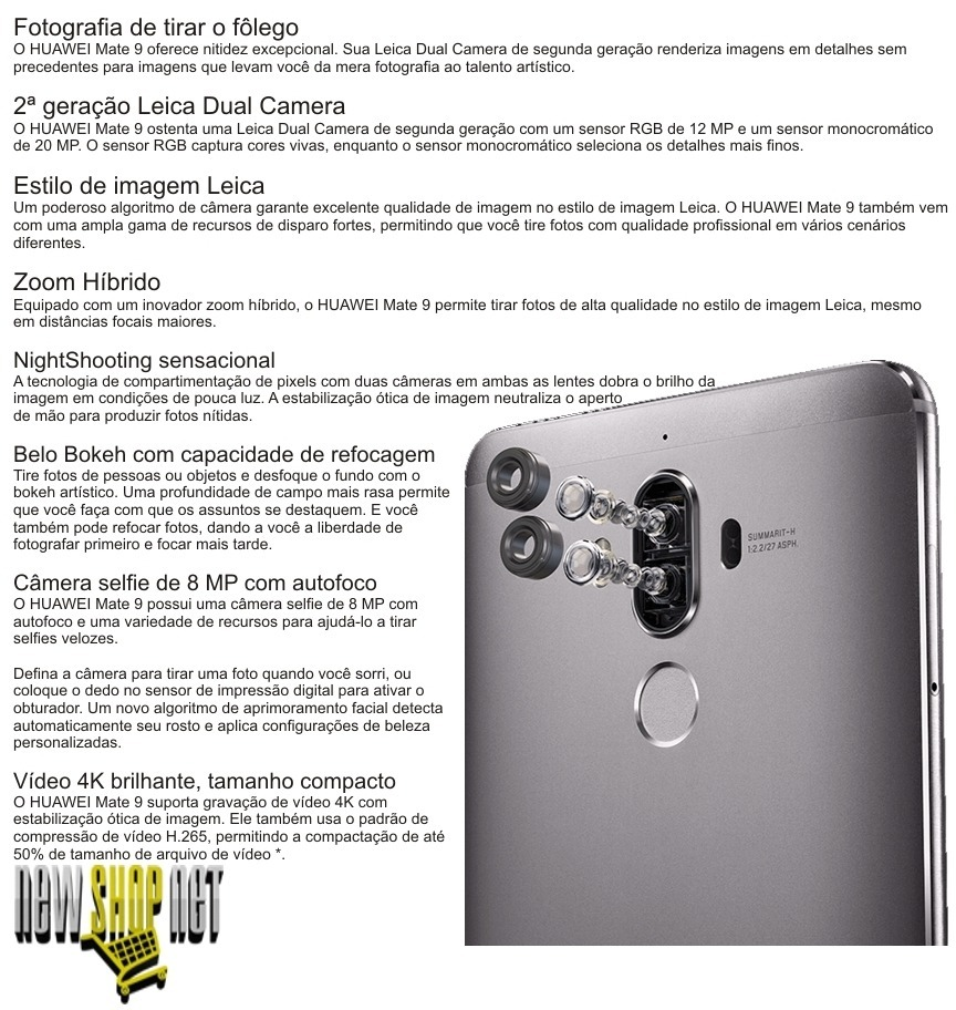 d4751b4a12acf Smartphone Huawei Mate 9 4g 5.9   Ips 64gb 4gb Câm 20+12+8mp - R ...