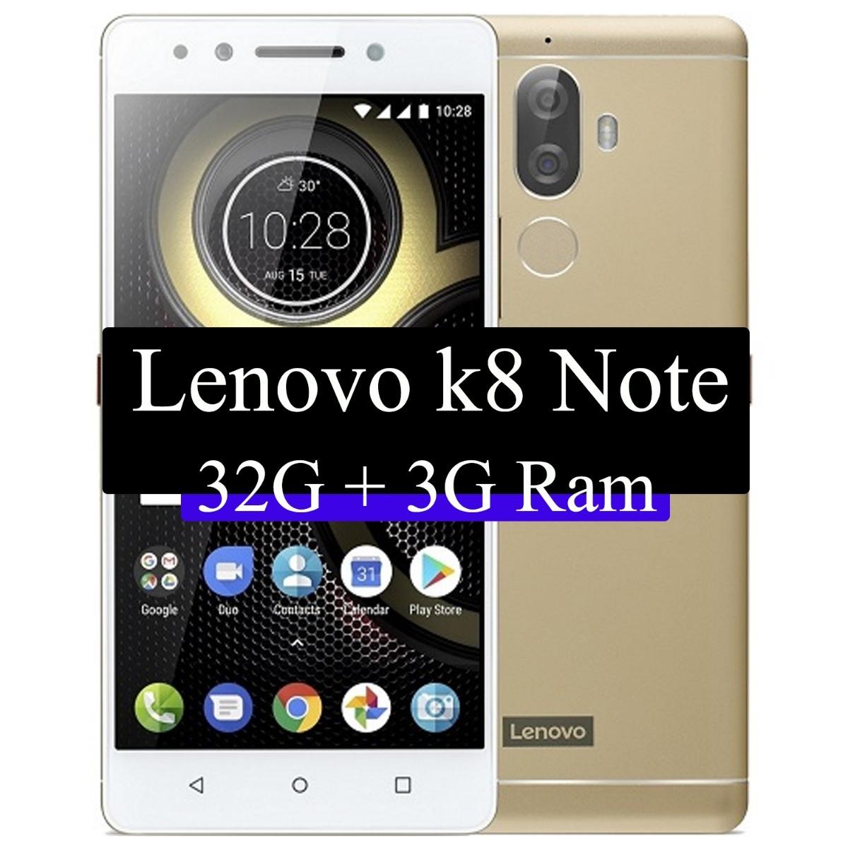 Smartphone Lenovo K8 Note - Biometria 3g Ram 32gb Cam 13mp