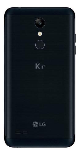 smartphone lg k11+ lmx410bcw preto - dual chip, tela de 5.3
