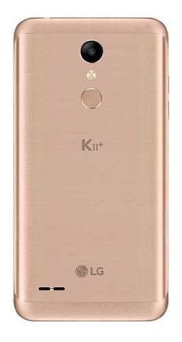 smartphone lg k11 plus dourado 32gb tela 5.3  dual chip 13mp