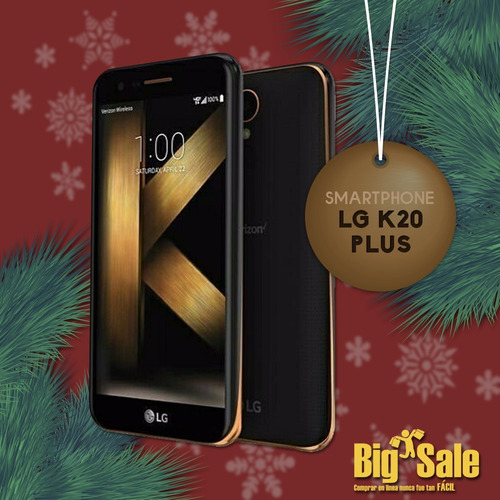 smartphone lg k20 plus nuevo negro 5.3 pulg.