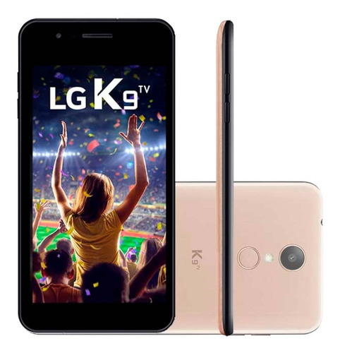 smartphone lg k9 tv lmx210bmw 16gb dourado novo