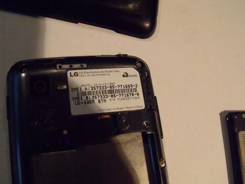smartphone lg optimus l4 ii e-467f dual tv para arrumar ou r