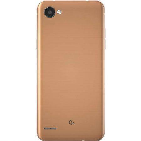 smartphone lg q6 rose gold lgm700tv, tela de 5.5 32gb 13mp