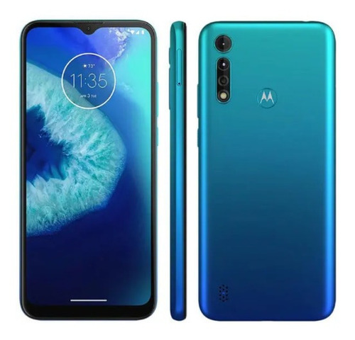 smartphone moto g 8 power lite aqua azul