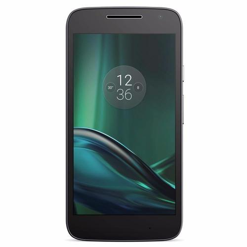 smartphone moto g4 play preto 16gb 5'', 4g xt1601 + brindes