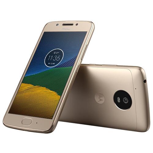 smartphone moto g5 xt1672 ouro - 4g, tela 5, octa core, 32gb
