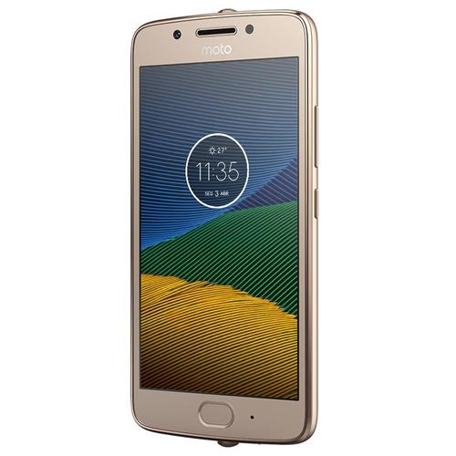 smartphone moto g5 xt1672 ouro - 4g, tela 5,octa core, 32gb