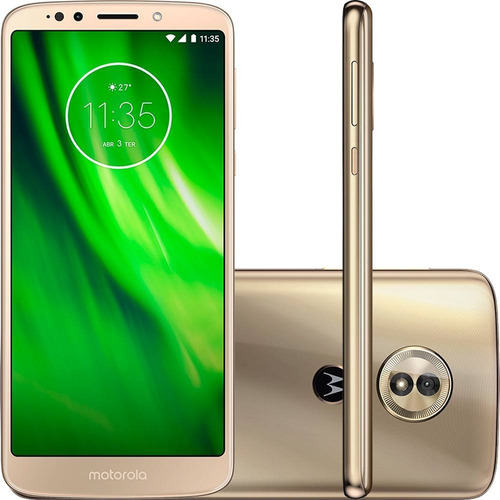 smartphone motorola moto g g6 play 32gb 4g 13mp 5.7 - ouro