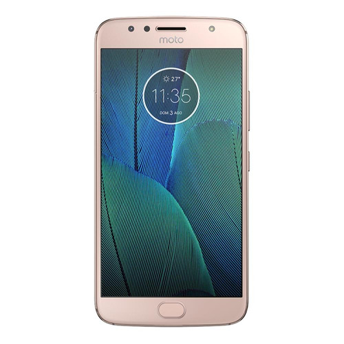 smartphone motorola moto g5s plus dtv ouro rosê 5,5  androi