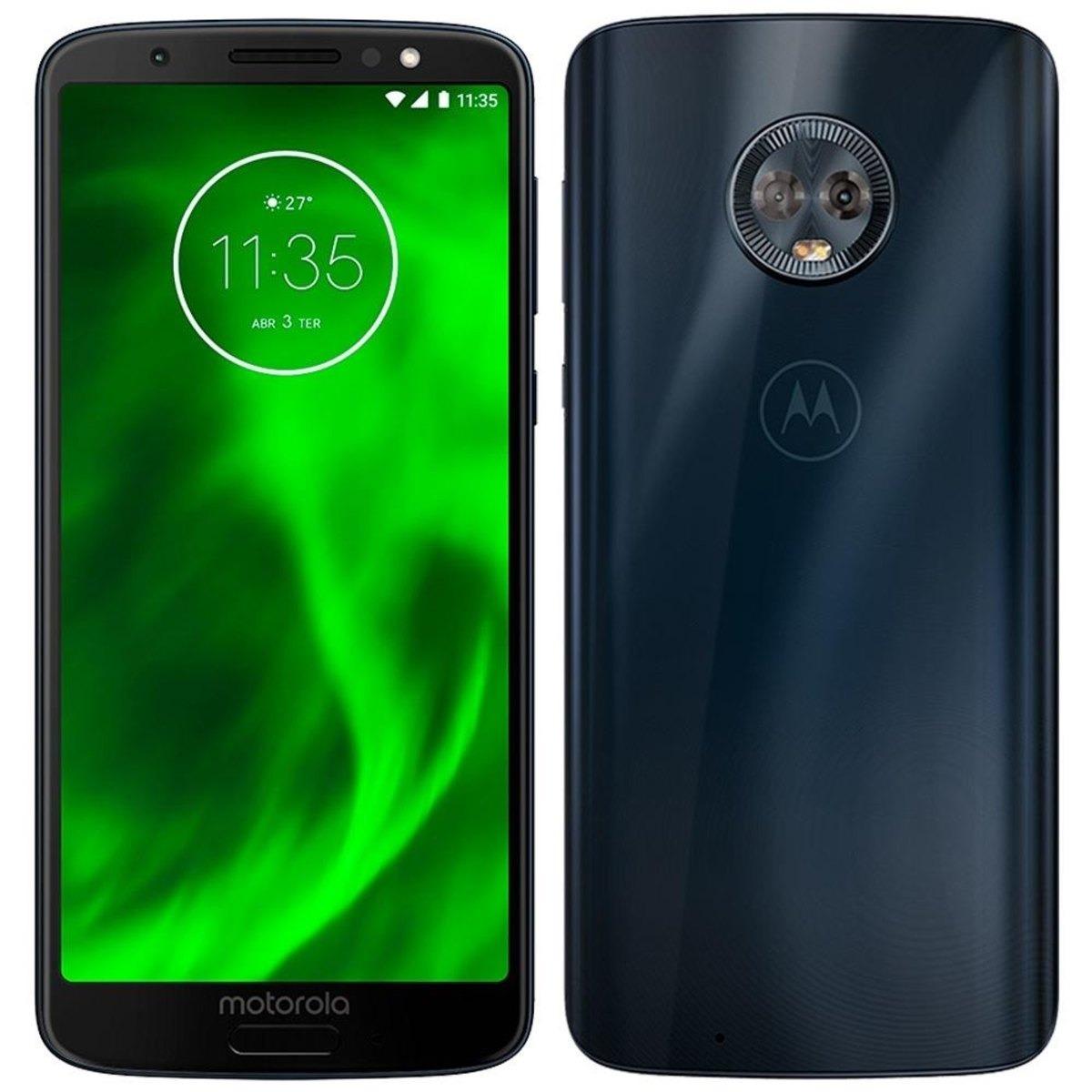 0d51ee3fd Smartphone Motorola Moto G6 Plus Xt1926 64gb Tela 5.9 Índigo - R  1.500