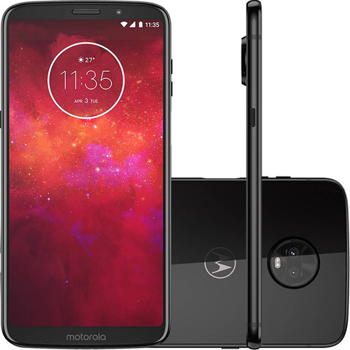smartphone motorola moto z3 play 128gb dual android 8.1 ônix