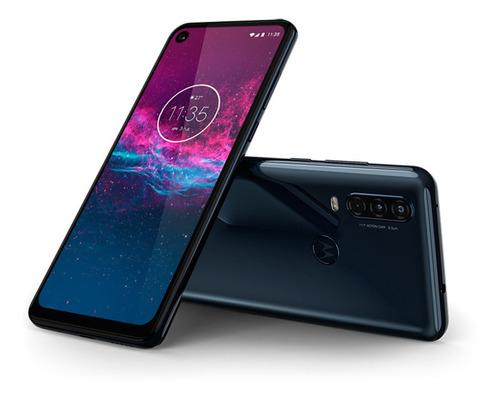 smartphone motorola one action 128gb azul denim lacrado nf