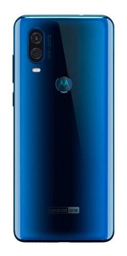 smartphone motorola one vision xt1970/as safira 128gb