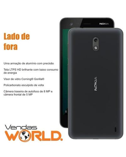 smartphone nokia 2 dual sim 4g tela 5.0'' hd 8gb câm 8mp+5mp