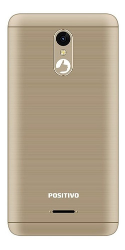 smartphone positivo twist 2 fit s509 quad-core dual chip android oreo 5'' - dourado