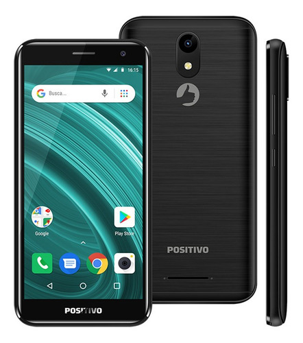 smartphone positivo twist 2 go s541 quad-core dual chip android oreo 5'' - preto