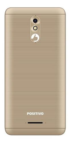 smartphone positivo twist 2 pro s532 1gb quad-core 3g dual chip android oreo 5,7'' - dourado