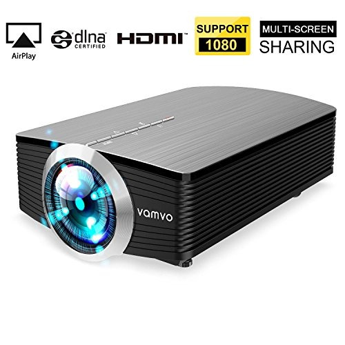 smartphone projector para iphone android tablet, vamvo mini