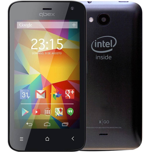 smartphone qbex x go hs011 tela 4.0' dual 3g 4gb 5mp novo