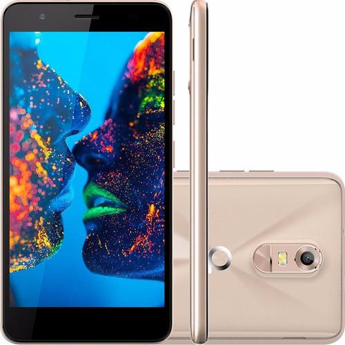 smartphone quantum dual müv tela 5.5'' 13mp dourado