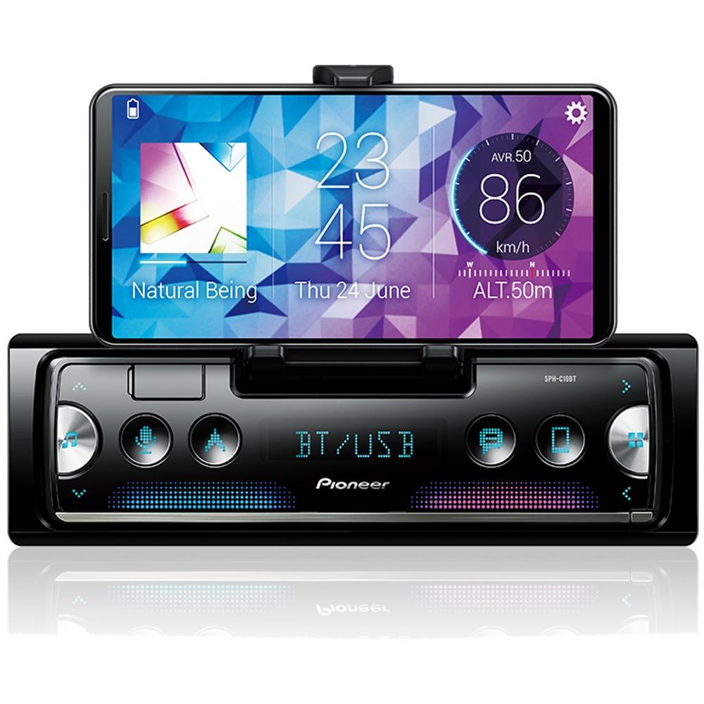 Smartphone Receiver Sph-c10bt Gps Bluetooth Spotify Waze Usb