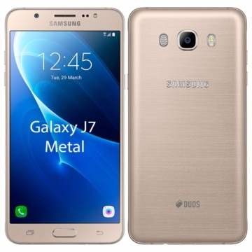 smartphone samsung galaxy j7 metal duos dourado 13mp 16gb