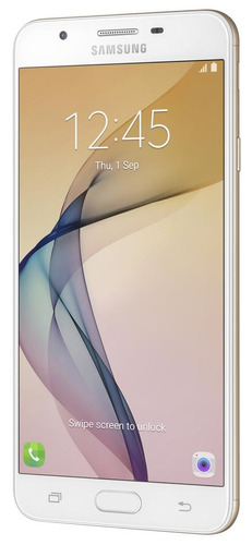 smartphone samsung galaxy j7 prime dourado, tela 5.5 , andro
