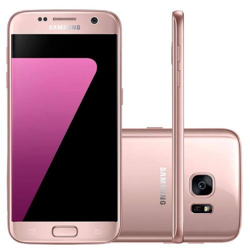 smartphone samsung galaxy s7 rose flat 32gb 5,1  3d octa-cor