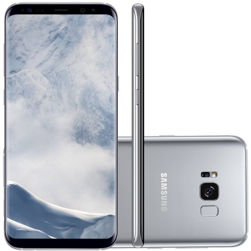 smartphone samsung galaxy s8 plus prata 6,2  câmera de 12mp