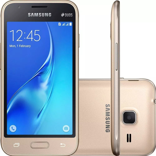 smartphone samsung j1 mini prime dual sim quard core dourado
