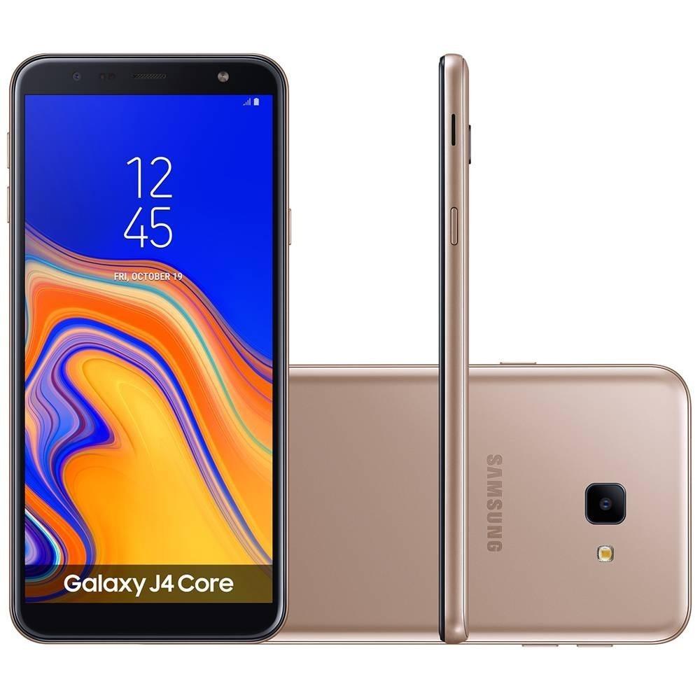 92d99f629 Smartphone Samsung J4 Core J410g 1+16gb Lte Dourado + Nfe - R  699 ...