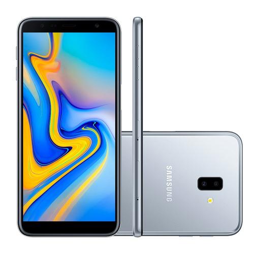 smartphone samsung j6 plus, prata, j610g, tela de 6 , 32gb