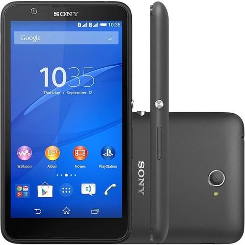 smartphone sony xperia e4 e2124 dual tv - vitrine novo preto