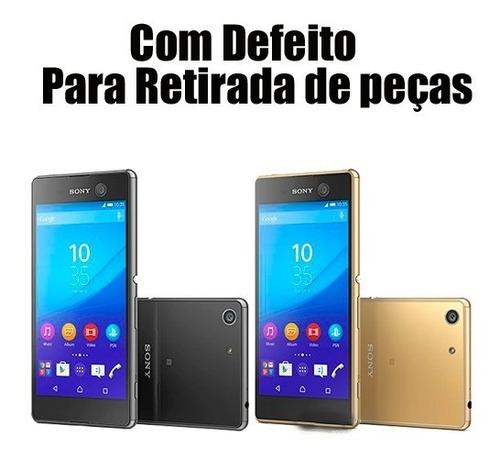 smartphone sony xperia m5 com defeito não liga sem garantia