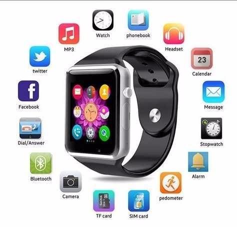 d6d727a521a Smartwatch A1 Chip Micro Sd Camara Bluetooh dz09 Gt08 Reloj - S  80 ...
