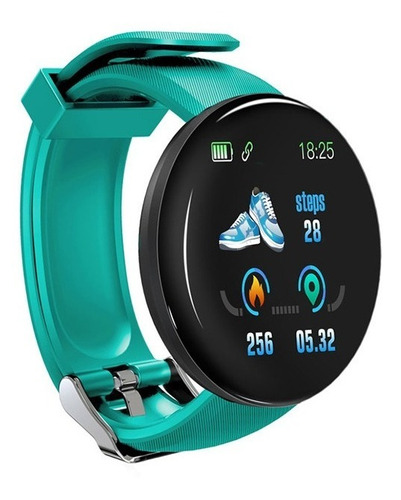 smartwatch d18 bluetooth 4.0 fitness redes sociales ip65