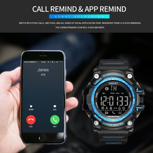 smartwatch digital com bluetooth sport militar gimto shock